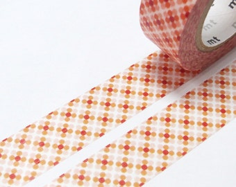 "CLEARANCE NEW ""mt"" Japanese Designer Masking Tape (Washi Tape) ""Mod Abstract""  10 Meters"