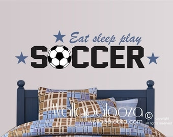 Soccer Wall Decor soccer wall decal | etsy
