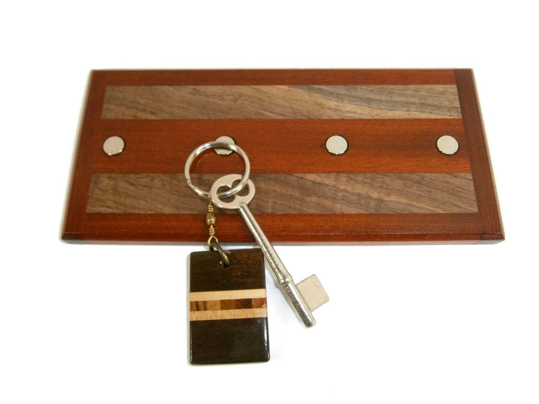 key holder wall hanging key holder wood key by eklektibles. Black Bedroom Furniture Sets. Home Design Ideas