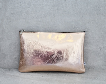 Clutch by electric jumper leather - copper