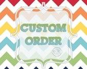 Custom Order for Kristina, Set of three hot air balloon canvas art