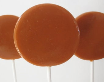 Salted Caramel Corn Gourmet Lollipops - Pick Your Size - Carnival Theme Party - Popcorn - Circus Party Favors - Fall Candy