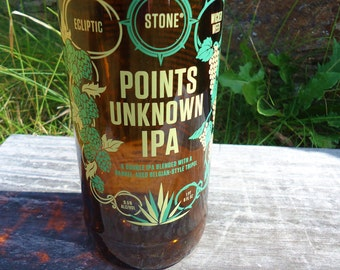 Recycled Stone Brewing Ecliptic Wicked Weed Points Unknown IPA Bottle Glass
