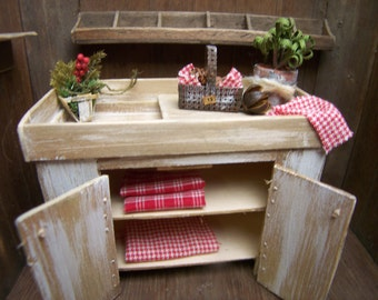 Dollhouse MIniature Dry Sink