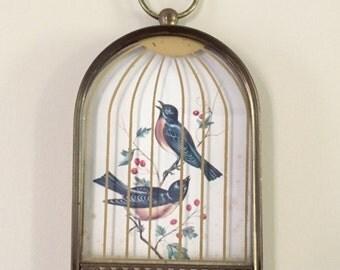 SALE-Mid Century Bird Cage Wall Hanging