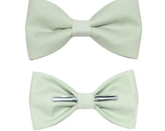 Seafoam Clip On Bow Tie - Men / Boys / Toddler Sizes