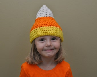 Crochet Candy Corn Hat