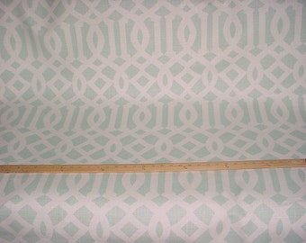 2-5/8 yards F. Schumacher #174415 Imperial Trellis II in Mineral - Linen Resist Silhouette Print Upholstery Drapery Fabric - Free Shipping