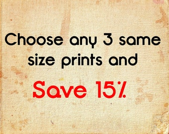 Save on any 3 prints of your choice