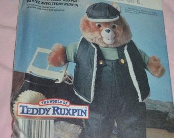 McCalls 2740 Teddy Ruxbin Travel with Teddy Ruxpin Sewing Pattern  - UNCUT