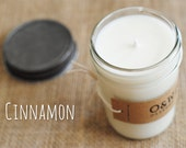 Cinnamon, 8oz Soy Candle in a Reusable Glass Jar