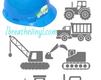 Perosanlized Construction Decal - Child's decal