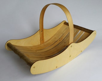 Welsh Market Trug, wooden trug, garden trug, wooden basket, mothers day gifts, wedding anniversary gifts, wedding gifts