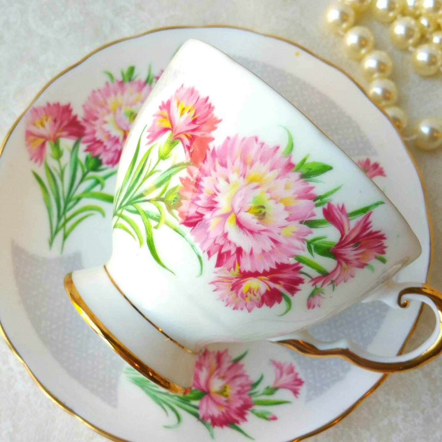 Expensive Birthday Flowers: Tuscan Birthday Flowers Tea Cup And Saucer Made In England
