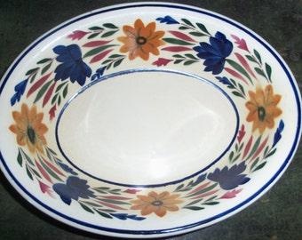 Vintage Dutch Faience Holland Maestricht Societe Ceramique Casserole Bowl