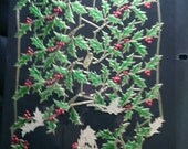 Germany Lithograph Full Scrap Booking Sheet Holly and Berries