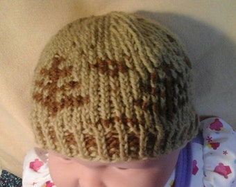 Baby beanie designed with trees: baby hat, baby beanie, baby cap, baby winter hat, baby winter beanie, design beanie, skull cap, beanie hat