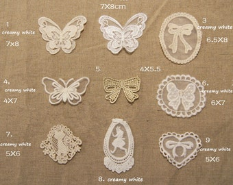 Lace Cloth-Cut and Applique Patchwork Embroderies for Diy Material