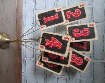 Set of Table Numbers Vintage Rustic Wedding Country Western Wild West Party 1-9