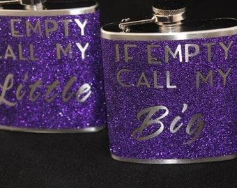 Sorority Flask Gift Big Little Gift Personalize Customize