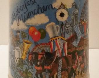 Vintage Oktoberfest Munchen beer Stein Mug circa 1980's