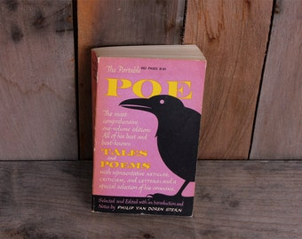 1963 The Portable Poe All of His Best Known Tales and Poems Edgar Allan Poe Book