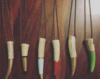 Custom Deer Antler Necklaces