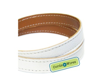 CT16004 White Stitched Leather - 0.60 meter x 16.00mm
