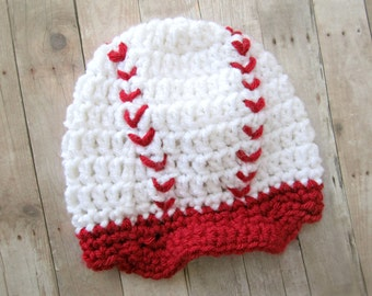 Crochet Baby Baseball Cap, Baseball Baby Hat, Crochet Baby Hat, 0-3, 3-6, 6-9, 9-12 Months, Ready to Ship Within 1-2 Weeks