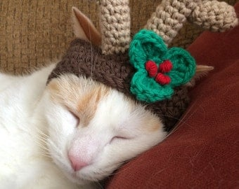 Reindeer Christmas Hat for Pets