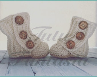 Baby boots, crochet boots, wrap boots