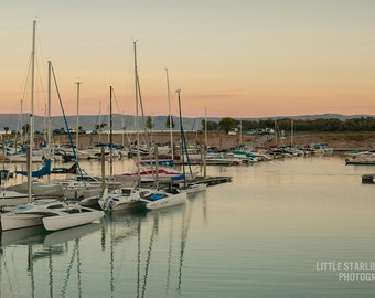 Marina At Dusk-  Landscape Utah Photography 12x8