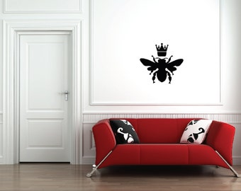 Queen Bee Wall Decal - Queen - Bumble Bee - Crown