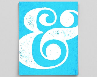 Ampersand Sign Punctuation Bright Modern Ampersand Poster Teacher Gifts for Teachers Typographic Print English Gifts Gag Gift Office Decor