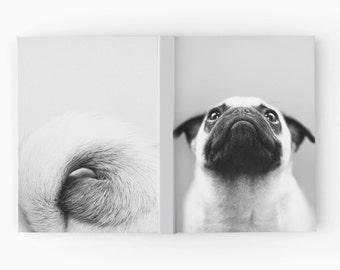 Pug Journal - Pug Gift - Pug Stationary - Cute Journal for Writing - Dog Journal - Pug Book - Hard Cover Journal - Dog Lover Gift - Notebook