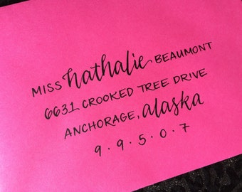 NATHALIE : Custom Wedding Calligraphy Envelope Addressing