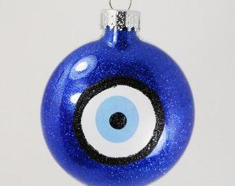 Evil Eye, Evil Eye Ornament, Evil Eye Glass Ornament, Glass Oranament, Home Decor, Home Decoration, Home Decorations, Holiday Decor, Evileye