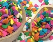 Multi Colored Hearts Edible Confetti - Cake Decorations - Baking Party Supplies