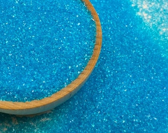 Blue Sanding Sugar - Cake Cookies Cupcake Sprinkles - Baking Candy Making Party Supplies