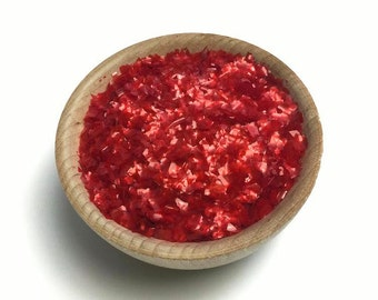 Edible Red Glitter Flakes - Cake Cookies Cupcake Sprinkles - Baking Candy Making Party Supplies