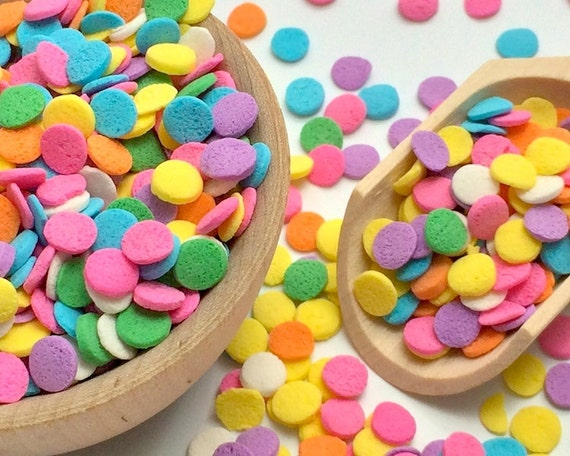 Pastel Round Edible Confetti Cake Decorations Baking Party