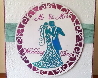6x6 Mr & Mrs Wedding Day Card