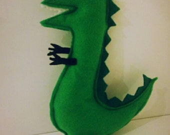 Peppa pig Themed - Mr. Dinosaur Inspired felt stuffed toy