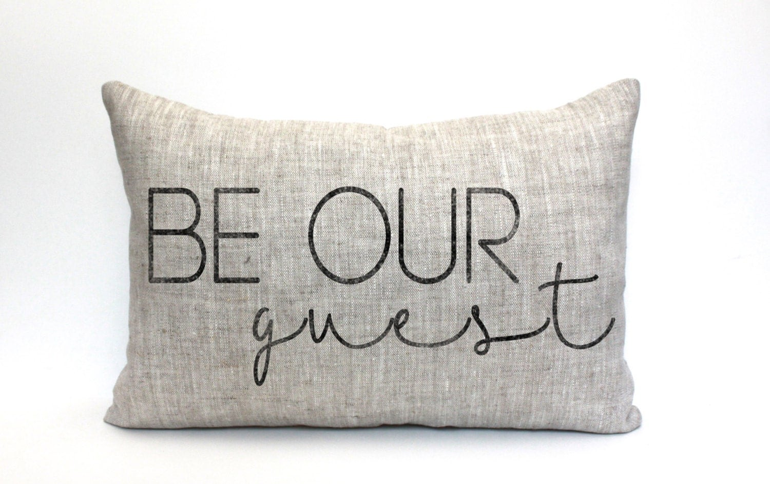 Throw Pillow With The Word Home On It : be our guest pillow throw pillow word pillow phrase pillow