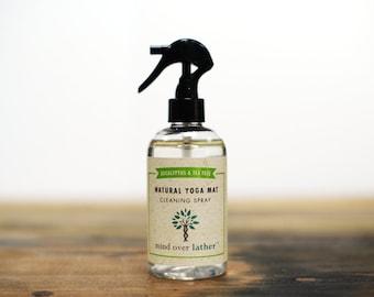 Eucalyptus & Tea Tree Natural Yoga Mat Spray Cleaner, 8oz