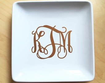 Monogrammed Jewelry Plate
