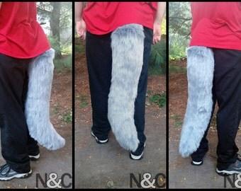 Large Grey Werewolf Tail