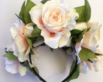 Crystal Rose Floral Headband