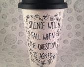 Doctor who silence travel mug