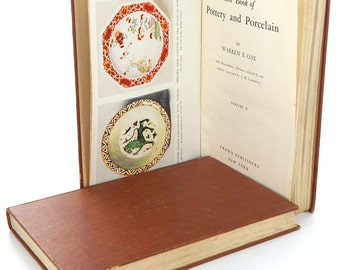 Vintage Pottery and Porcelain Reference Books Set of 2